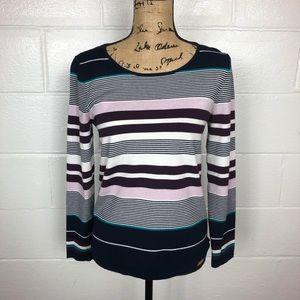 Ann Taylor Loft striped sweater Large Petite
